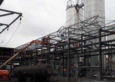 Opbouw metaalconstructies industrie Franckaert - De Munck