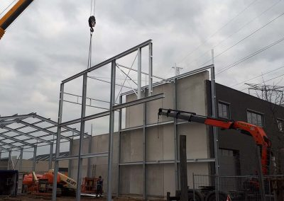 Bouw in staal - magazijn - woning